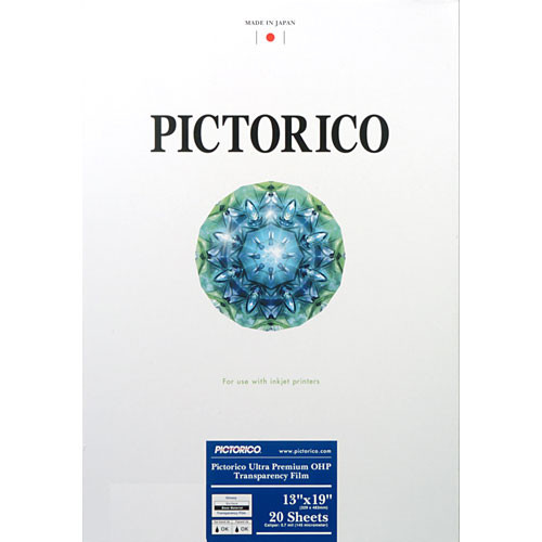 "Pictorico Pro Ultra Premium OHP Transparency Film (13 x 19"", 20 Sheets)"