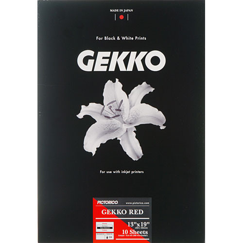 "Pictorico Gekko Red Paper (265gsm)  for Inkjet - 13 x 19"" (Super-B) - 10 Sheets"