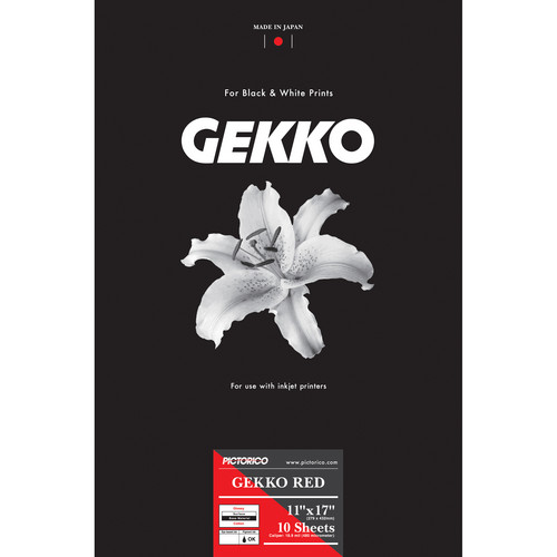 "Pictorico GEKKO Red Inkjet Paper (11 x 17"", 10 Sheets)"