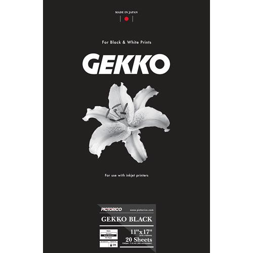 "Pictorico Gekko Black (11 x 17"", 20 Sheets)"