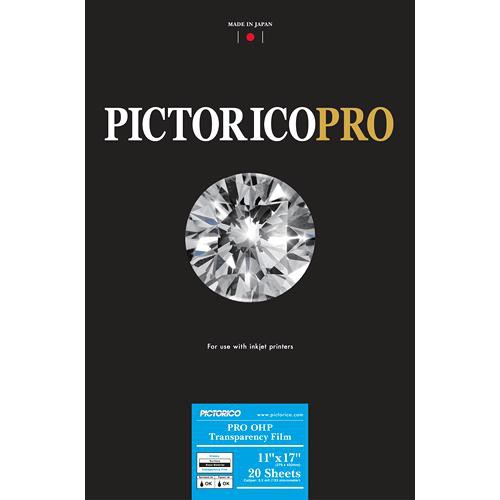 "Pictorico Pro Premium OHP Transparency Film (11 x 17"", 20 Sheets)"