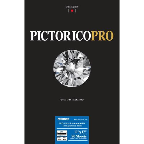 """Pictorico Pro Ultra Premium OHP Transparency Film (11 x 17"""", 20 Sheets)"""