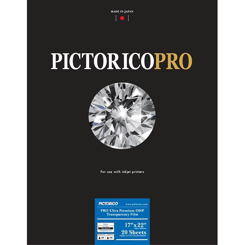 "Pictorico Pro Ultra Premium OHP Transparency Film (17 x 22"", 20 Sheets)"