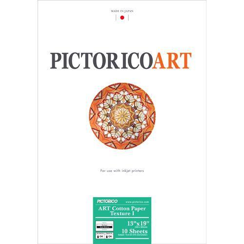 "Pictorico ART Cotton Paper Texture I (13 x 19"", 10 Sheets)"