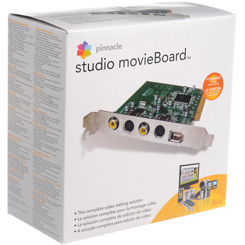 Pinnacle Studio MovieBoard Video Editing Hardware and Software for Windows