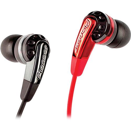 Pioneer SE-CL721 Bass Head DJ-Inspired In-Ear Headphones (Black/Red)