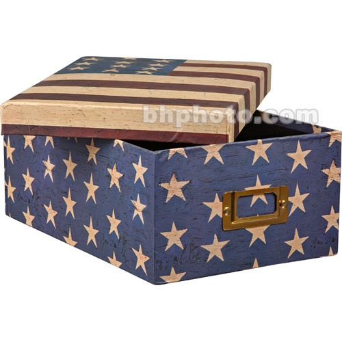 Pioneer Photo Albums 608313 Deluxe Photo Storage Box (Warren Kimble American Flag)