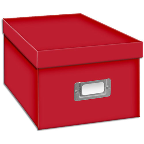 Pioneer Photo Albums BCD-1S/R Photo CD/DVD Storage Box (Bright Red)