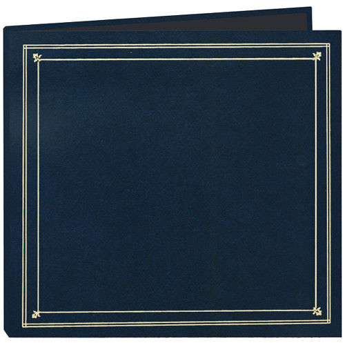 Pioneer Photo Albums Full Size Post Style Pocket Album (Navy Blue)