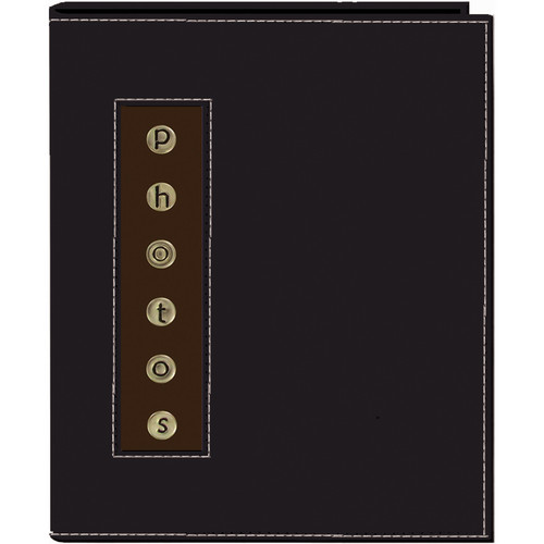 Pioneer Photo Albums CMB-46 Metal Buttons Brag Photo Album (Black)