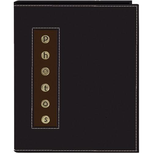 Pioneer Photo Albums CMB-46 Metal Buttons Brag Photo Album (Black)