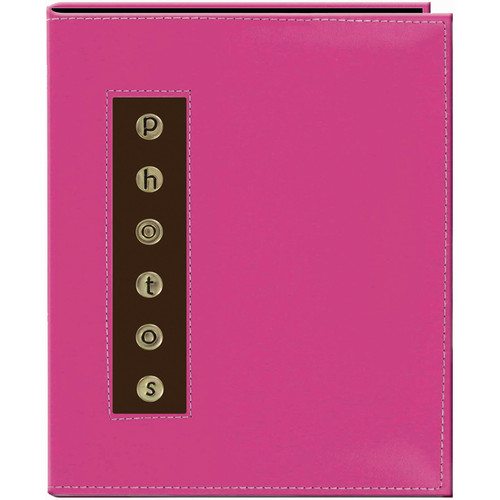 Pioneer Photo Albums CMB-46 Metal Buttons Brag Photo Album (Pink)