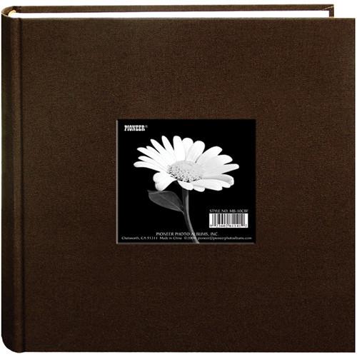 """Pioneer Photo Albums DA-200CBF Cloth Frame Album - 4 x 6"""" (Chocolate Brown)"""