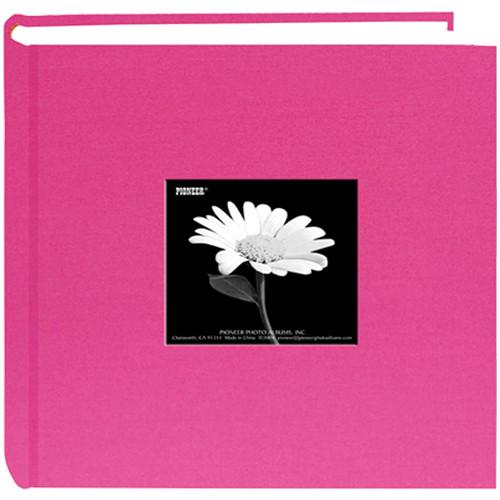 Pioneer Photo Albums DA200CBFS-BP Specialty Fabric Frame Bi-Directional Photo Album (Bright Pink)