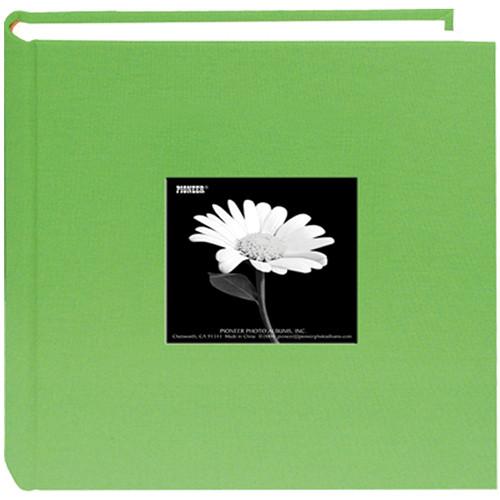 Pioneer Photo Albums DA200CBFS-CG Specialty Fabric Frame Bi-Directional Photo Album (Citrus Green)