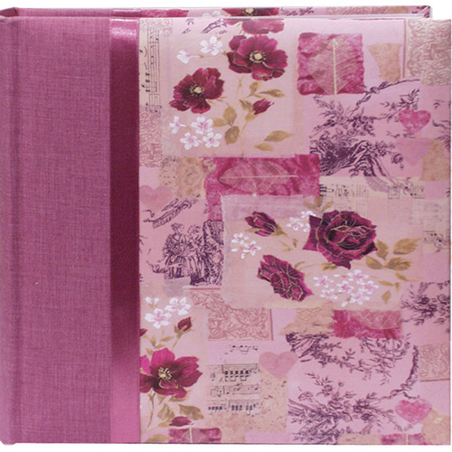 Pioneer Photo Albums DA-200D Bella Fabric Ribbon Designer Page Memo Photo Album (Rose)