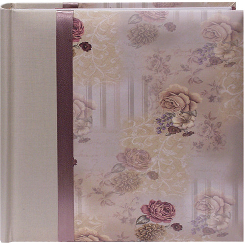 Pioneer Photo Albums DA-200D Bella Fabric Ribbon Designer Page Memo Photo Album (Sage Green)