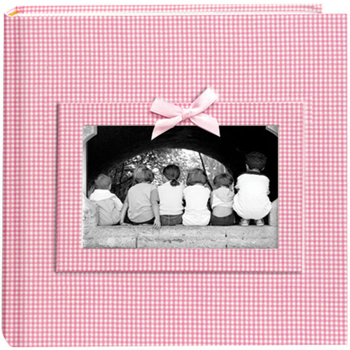 Pioneer Photo Albums DA200GRB-GP Baby Frame Gingham Fabric Memo Album (Pink)