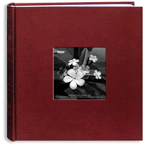 Pioneer Photo Albums DA200SKF-CR Silk Frame Bi-Directional Photo Album (Cranberry)