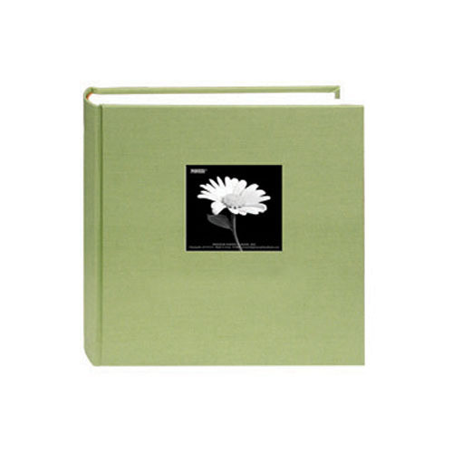 Pioneer Photo Albums DA-257CBF Fabric Frame Bi-Directional Memo Album (Sage Green)