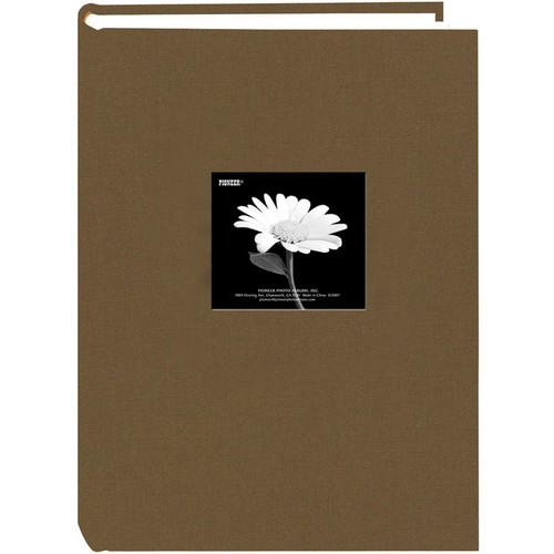 Pioneer Photo Albums DA-300CBF Fabric Frame Bi-Directional Album (Warm Mocha)