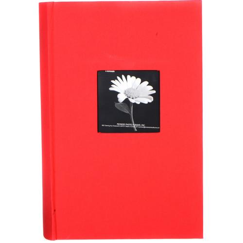 Pioneer Photo Albums DA-300CBF Fabric Frame Bi-Directional Memo Album (Apple Red)