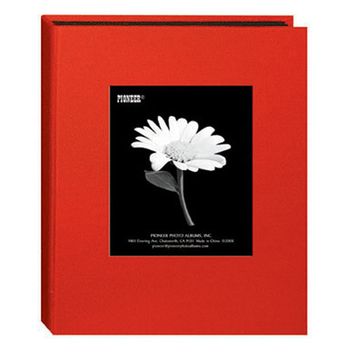 Pioneer Photo Albums DA-46CBF Mini Fabric Frame Album (Apple Red)