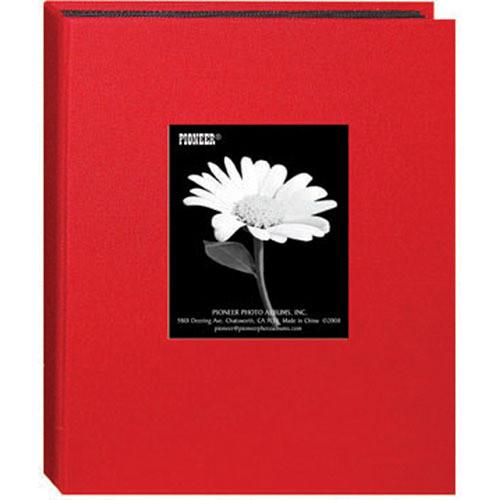 Pioneer Photo Albums DA-57CBF Mini Fabric Frame Album (Apple Red)