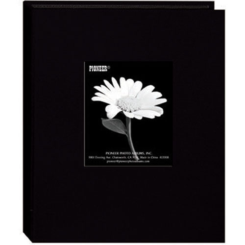 Pioneer Photo Albums DA-57CBF Mini Fabric Frame Album (Deep Black)