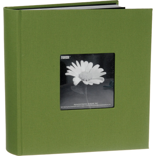 Pioneer Photo Albums DA-200CBF Bi-Directional Cloth Frame Album (Herbal Green)