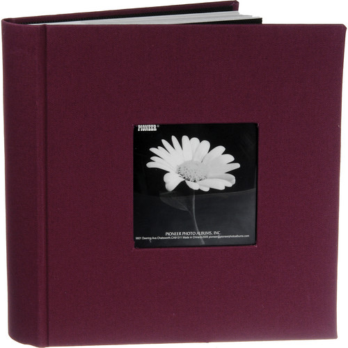 Pioneer Photo Albums DA-200CBF Bi-Directional Cloth Frame Album (Sweet Plum)