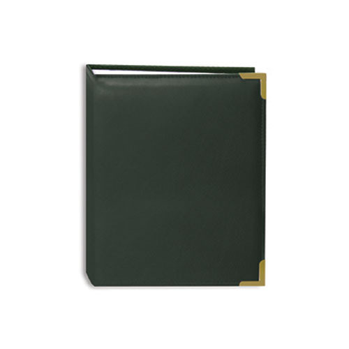 Pioneer Photo Albums E4-100 Brass Corner Photo Album (Hunter Green)