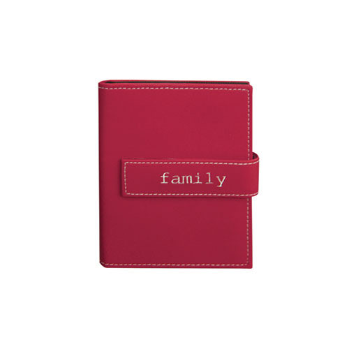 "Pioneer Photo Albums Expressions Embroidered Strap Album - 4 x 6"" (""Family"", Burgundy)"