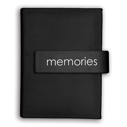 "Pioneer Photo Albums Expressions Embroidered Strap Album - 4 x 6"" (""Memories"", Black)"