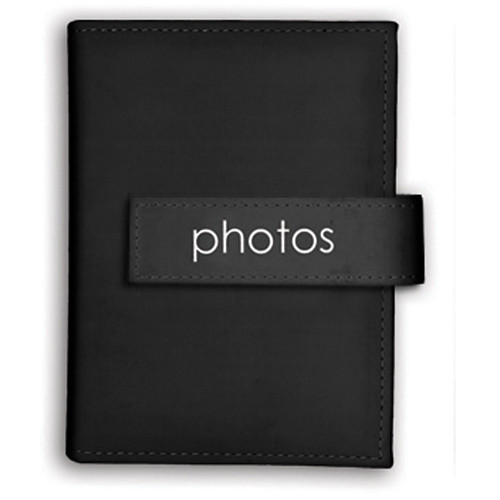 "Pioneer Photo Albums Expressions Embroidered Strap Album - 4 x 6"" (""Photos"", Black)"