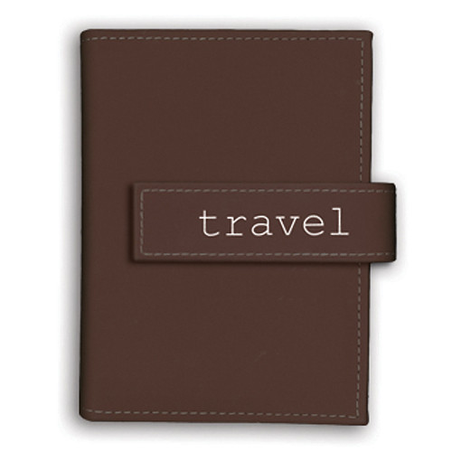 "Pioneer Photo Albums Expressions Embroidered Strap Album - 4 x 6"" (""Travel"", Brown)"