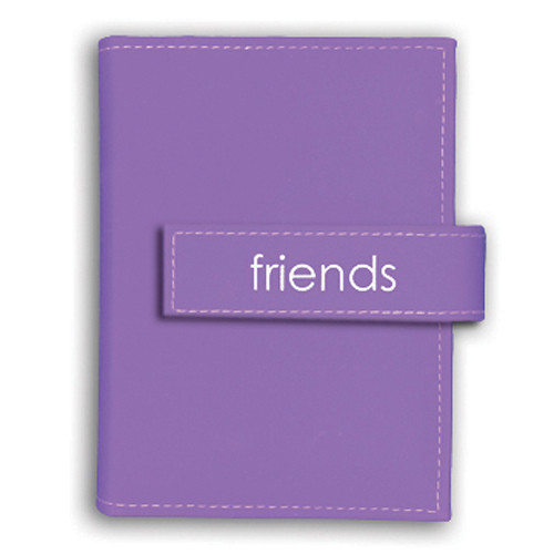 Pioneer Photo Albums EXP46-LF Expressions Embroidered Touch Fastened Photo Album (Lavender Friends)