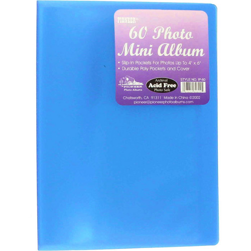 "Pioneer Photo Albums Transparent Poly Photo Album - 4 x 6"" (Transparent Blue)"