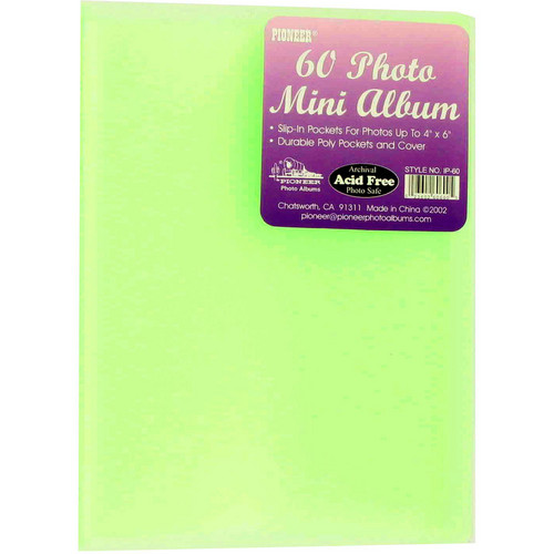 "Pioneer Photo Albums Transparent Poly Photo Album - 4 x 6"" (Light Green)"