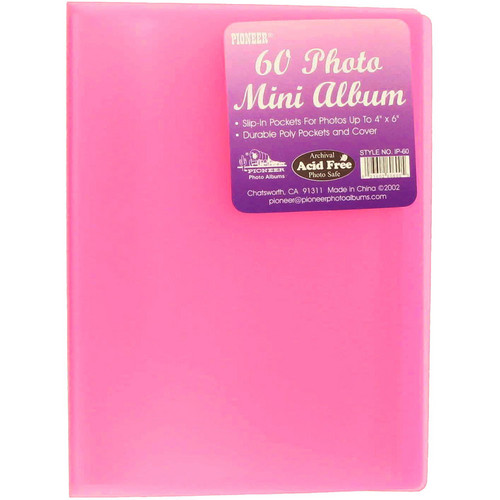 "Pioneer Photo Albums Transparent Poly Photo Album - 4 x 6"" (Transparent Pink)"