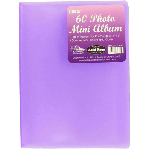 "Pioneer Photo Albums Transparent Poly Photo Album - 4 x 6"" (Transparent Purple)"