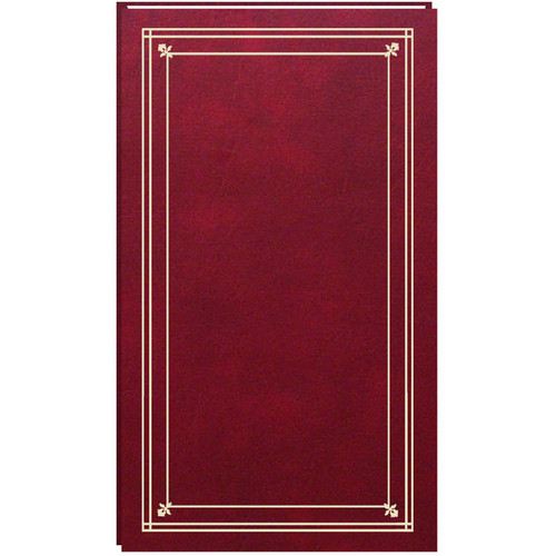 Pioneer Photo Albums Slim Line Post Style Pocket Album (Burgundy)