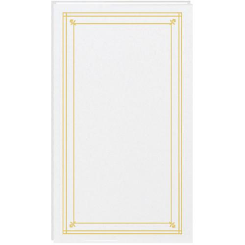 Pioneer Photo Albums Slim Line Post Style Pocket Album (White)