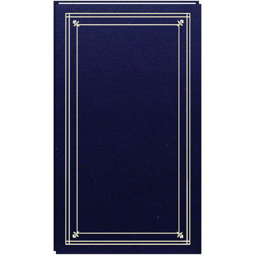 Pioneer Photo Albums Slim Line Post Style Pocket Album (Navy Blue)