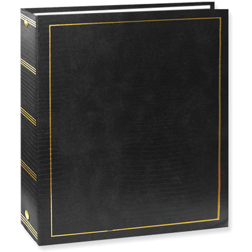 Pioneer Photo Albums LM-100 Promotional 100 Page Magnetic 3-Ring Album (Black)