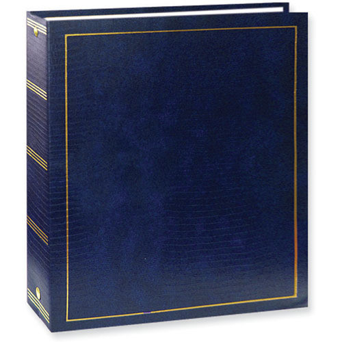 Pioneer Photo Albums LM-100 Promotional 100 Page Magnetic 3-Ring Album (Navy Blue)