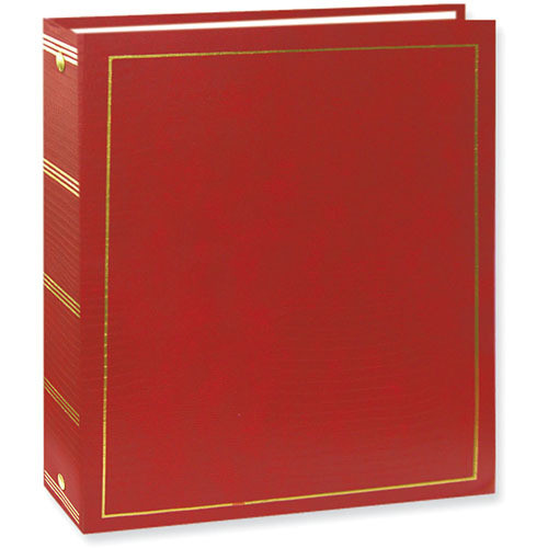 Pioneer Photo Albums LM-100 Promotional 100 Page Magnetic 3-Ring Album (Red)
