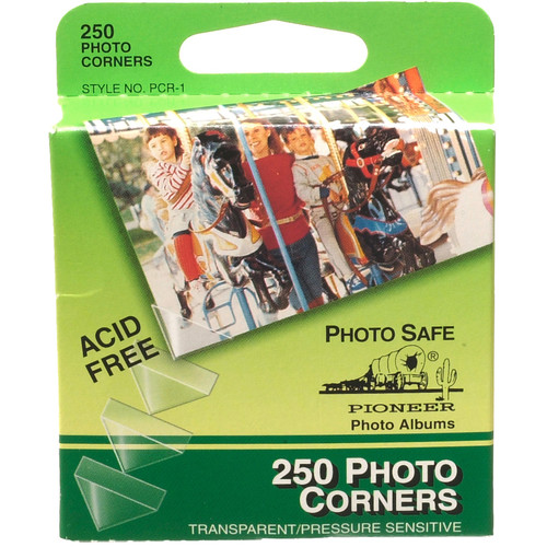 Pioneer Photo Albums Photo Mounting Corners (Box of 250, Clear)