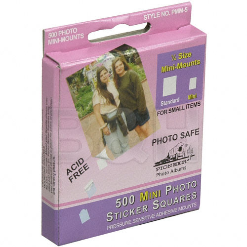 "Pioneer Photo Albums PMM5 1/4"" Size Mini Mounts Sticker Squares (Box of 500)"