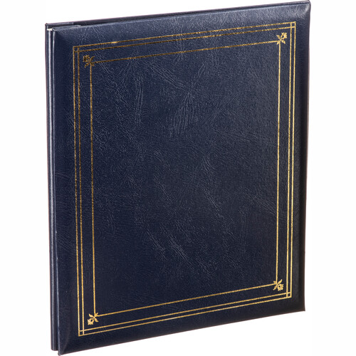 Pioneer Photo Albums PS-5781 5X7'' and 8X10'' X-Pando Pocket Album (Navy Blue)